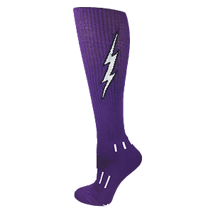 Purple with Black Knee-High Lightning Electric Insane Bolt