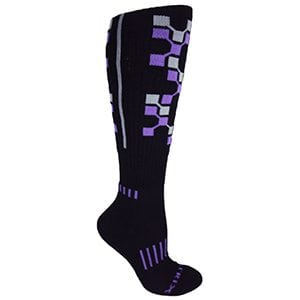 Black with Purple The Matrix Premium Cushioned Fitness Socks