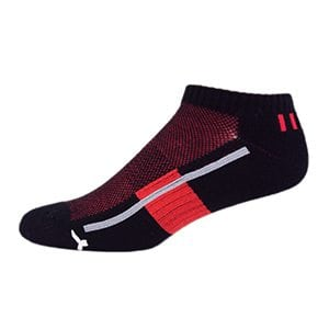 MOXY Socks No-Show Performance AiRFLeX Yoga Socks 3-Pack, Black/Red/Grey