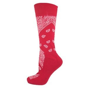 MOXY Socks Red with White Bandana Premium Dress Socks