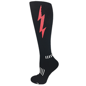 Black with Red Knee-High Insane Bolt Knee-High