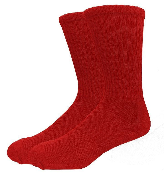 MOXY Socks Red Running Buddy Performance Athletic Running Crew Socks