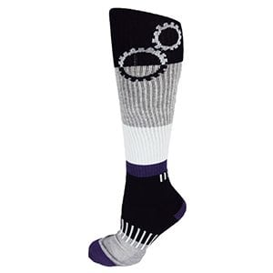 Black and Purple ShiftGear Striped Knee-High