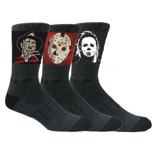 MOXY Socks Black Halloween Slasher Crew 3-Pack