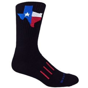 Texas Lonestar Crew Socks