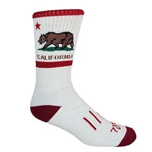 MOXY Socks California American! Performance Crew 2-Pack