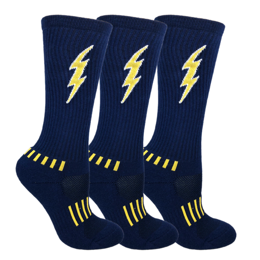 Navy Blue with Yellow Youth Insane Bolt 3-Pack