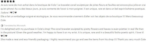YournNonce customer review international French