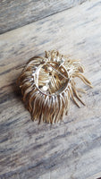Fringe Dog Head Brooch