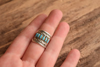 Size 6.75 Turquoise Petit Point Ring by Y. Hattie