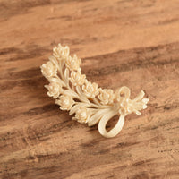 Vintage Celluloid Rose Brooch