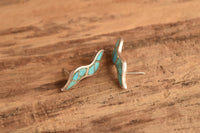 Turquoise Wave Inlay Studs