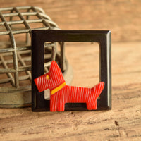 Bakelite Scottie Dog Brooch