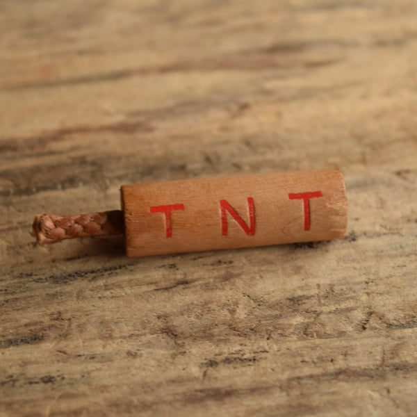 Wooden TNT Brooch