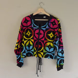 Vintage Speed Limit MPH Cropped Jacket Rainbow