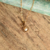 Dainty Vintage 9k Gold Pearl Necklace - YournNonce