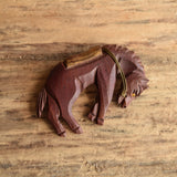 Bucking Bronco Brooch
