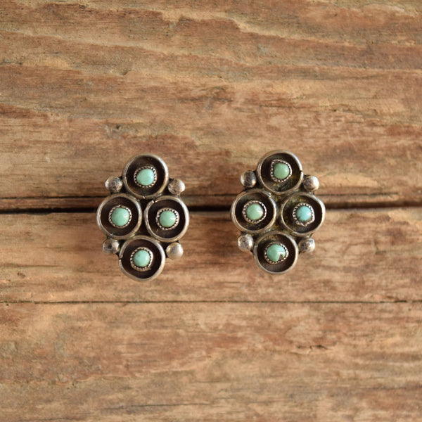 Snake Eye Light Turquoise Stud Earrings