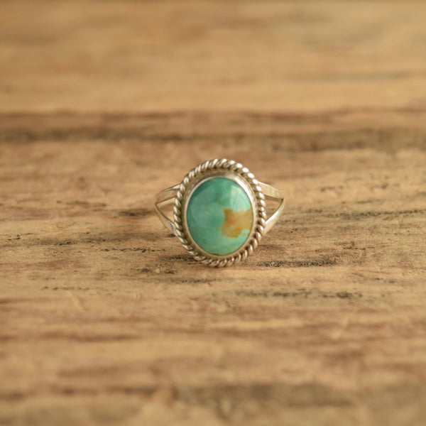 Broken Arrow Turquoise Ring Size 9 3/4