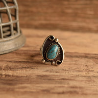 Turquoise  Ring Size 8.5 - Vintage southwestern rings