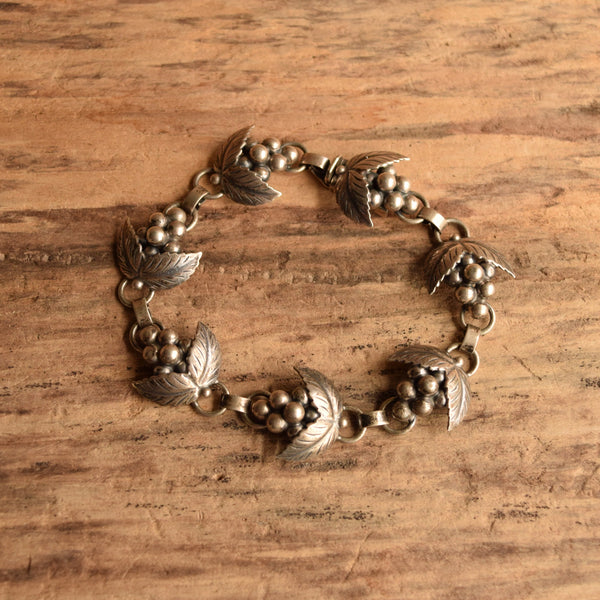 Midcentury Danish grape Bracelet by SCF