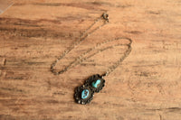 Dual Turquoise Pendant Necklace