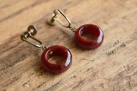 Bakelite Round Dangle Earrings