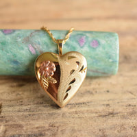 Black Hills Gold Heart Locket Necklace - CCO Coleman