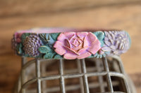 Purple Painted Floral Bangle