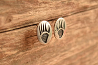 Hopi Sterling Bear Paw Earrings - Raymie Namingha OR Walter Polelonema