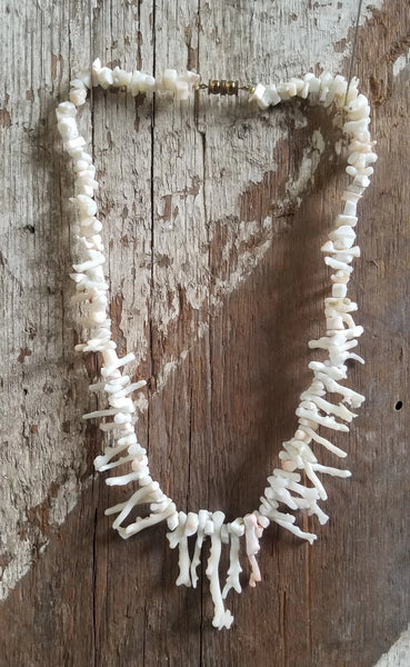 White Coral Branch Angel Skin Necklace
