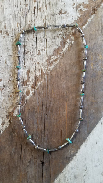 bench bead and turquoise southwestern necklace