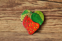 Strawberry Brooch - Made in West Germany