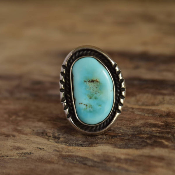 Pale Turquoise Ring by Ed Kee Size 7 1/2