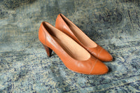 Tan Leather pumps Size 6.5