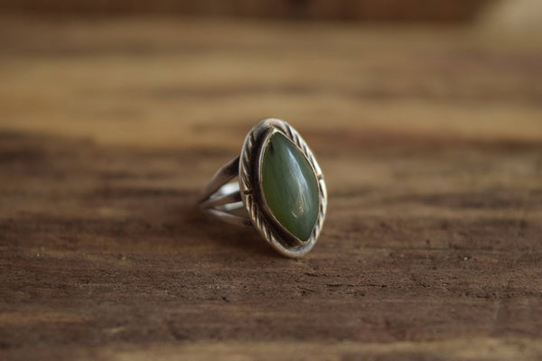 Size 7 Marquise Green Stone Ring