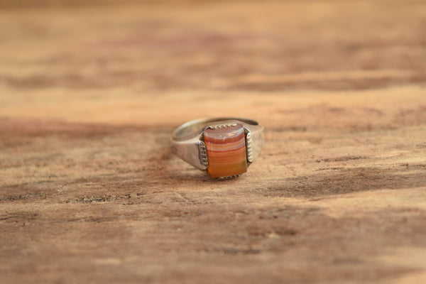 Square Agate Ring - Size 7.25