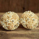 Vintage Bridal Clip On Earrings