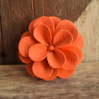 Orange Sugared Flower Brooch
