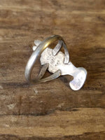 Bird Shaped Ring - Size 6.5 Mexico Sterling - Parrot Shaped Ring