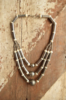 Three Ball Statement Necklace - Bohemian Vintage
