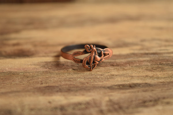 Rodeo Cowboy Copper Ring - Size 7-11 Adjustable