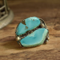 Dual Turquoise Ring - Size 9 3/4