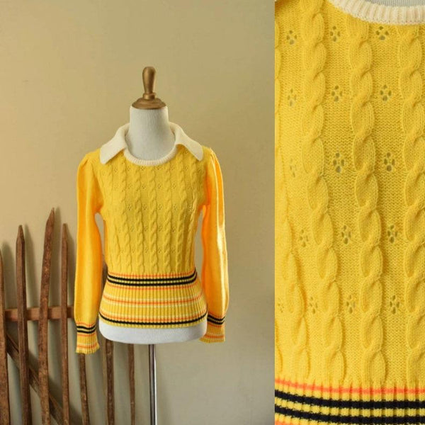 Collared Yellow Vintage Sweater