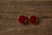 Red Velvet Earrings