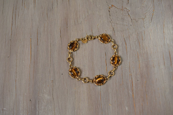 Tiger's Eye 1/20 14 KT Gold Filled Bracelet