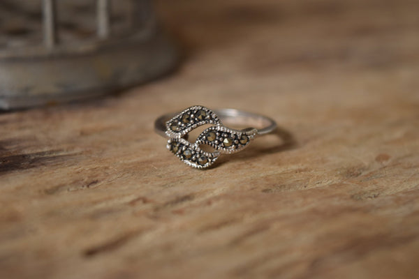 Size 9 Marcasite and Sterling Ring