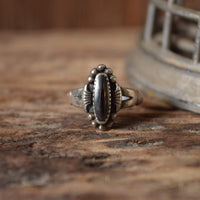 Hematite Sterling Ring  Size 5 3/4 - Bell Trading Post