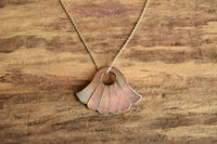 Pink Mother of Pearl Pendant Necklace