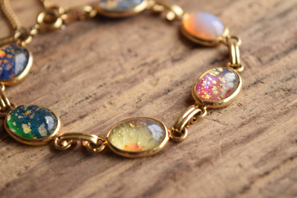Foiled Glass Spring Bracelet